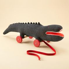 Baby Toys: Felt Crocodile Pull Toy in All Toys Electronic Toys, Animal Crackers, Pull Toy, Baby Store, Diy Toys, Sewing For Kids, Softies, Textiles, Kids Playing