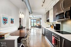 It's our Rental of the Week Exposed Brick Walls, Exposed Concrete, Polished Concrete, Concrete Floors, Toronto Lofts, Toronto Condo, Lofts For Rent, Condos For Rent, Cabinet Shelving