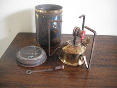 Antique/vintage British portable paraffin picnic or hunting stove in a tin by TheAntiqueSeller on Etsy