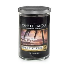 My favorite from the spring collection! Sunset in paradise ... rich coconut, cedarwood and island blossoms promise an evening of luxurious tranquility. Large Tumbler £18.65 http://www.yankee.co.uk/yankee-candles/4622/black_coconut_br_large_tumbler.aspx