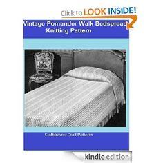 Knit a Bedspread vintage knitting pattern