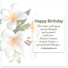 Happy Birthday - A special friend like you | Free Birthday Cards For Friends | all-greatquotes.com