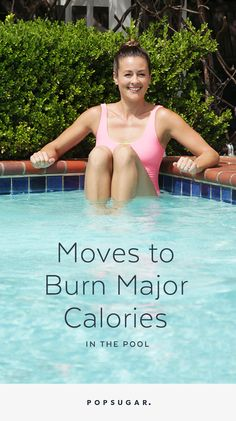 Don't quit working out because of the heat — move your sweat session to the pool. Here are four calorie-blasting moves that make a killer water workout.