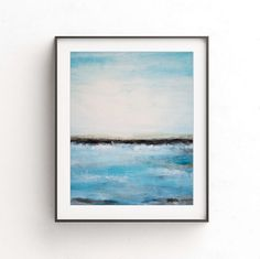 Art print instant digital download blue black printable art