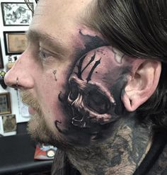 90 Face Tattoos For Men Masculine Design Ideas Here we have great picture about face tattoo designs for men. We hope these photos can be y. Cool Face Tattoos, Face Tattoos For Men, Facial Tattoos, Tattoos For Women Half Sleeve, Fake Tattoos, Hot Tattoos, Tattoos For Women Small, Tattoos For Guys, Tattoo Design Drawings