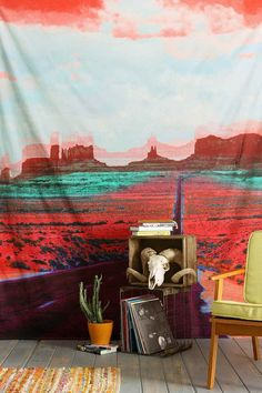 Desert Highway Tapestry Throw - Urban Outfitters
