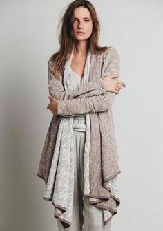 $148 nwt FREE PEOPLE sz S IN THE LOOP  Amber draped open French terry cardigan #FreePeople #Cardigan