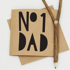 Father's Day Card - 13.5x13.5 cm Number One Dad
