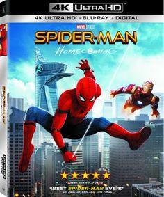 Spider-Man: Homecoming Blu-ray Box Art Unveiled  Spider-Man: Homecoming is coming out on Blu-ray next month and it'll include plenty of special features.  The film will first be released on Digital HD onSeptember 26 followed by a 4K Ultra HD Blu-ray andDVD release on October 17. The Blu-ray comes packaged with over an hour's worth of bonus material including a gag reel several deleted scenesseven behind-the-scenes featurettes a photo gallery and more.  Also featured isThe Spidey Study Guide…