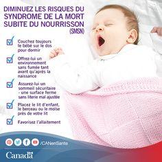 Chaque nouveau parent s'inquiète du SMSN. Apprenez à diminuer le risque pour votre nourrisson ici : http://canadiensensante.gc.ca/kids-enfants/sleep-sommeil/sids-smsn-fra.php?_ga=1.21397439.525080773.1393857104&utm_source=pinterest_hcdns&utm_medium=social&utm_content=Apr15_kidsleep_FR&utm_campaign=social_media_14