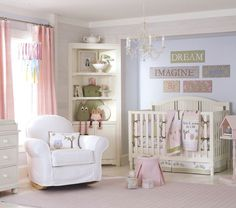 Cute room with white crib