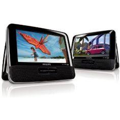 """Philips PD7042 Lettori DVD Portatili Doppi con LCD da 7""""/18cm"""
