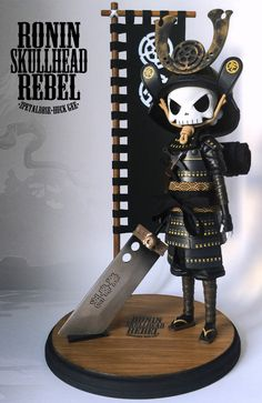 "2Petalrose x Huck Gee - ""Ronin Skullhead Rebel"" revealed!!!"