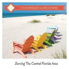 Our #adirondackchairs look great out on the beach outside of your #home or #vacationhome! #summer #florida #beach