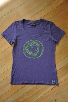 Ladies Purple Love Kiwi Tee by SonjaHandcraftedTees on Etsy Gift Wrapping Services, Purple Love, Kiwi, Screen Printing, My Design, How To Draw Hands, T Shirts For Women, Trending Outfits, Lady