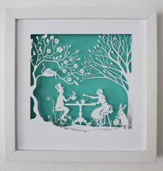 Alice in Wonderland Mad hatter's tea party von Ateliergreen