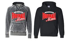 Glitter Football Mom Hoodys  Custom Color by GraphicsUnlimitedLLC, $26.00