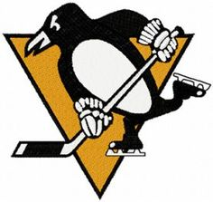 Pittsburgh Penguins logo machine embroidery design $3 embroideres.com