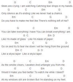Demi Lovato Skyscraper Chords