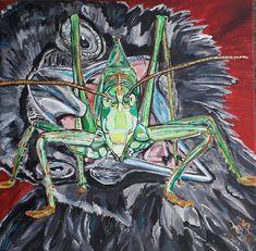 Krähe, crow, Heuschrecke, Acrylmalerei, Acrylicpainting, Paintings, 2018 Joker, Painting, Fictional Characters, Art, Art Background, Painting Art, Kunst, The Joker, Paintings