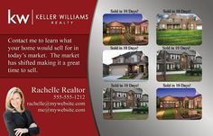 Market Update Postcards for Realtors. Includes free customization by a professional graphics designer.  Change the color, text, images, etc.  Tax and shipping included.  #Realtor #realestatemarketing