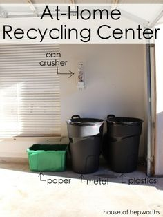 Great tips on Recycling when you don't have curbside pick up.