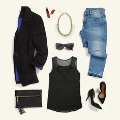 Get right for girls' night with this effortlessly cool look. Schedule a Fix to glam up your going-out get-up!