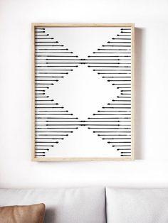 Printable minimalist wall art // Mid-century modern rustic home decor Diy Wall Art, Modern Wall Art, Wall Art Decor, Room Decor, Wall Art Boho, Modern Prints, Modern Gallery Wall, Rustic Wall Art, Home Wall Art