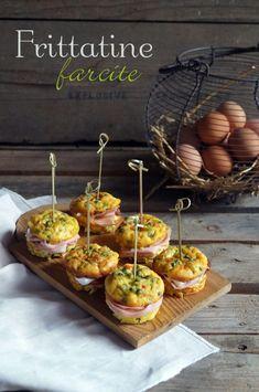 Frittatine farcite, se non è Pasqua è Pasquetta - IlGattoGhiotto.it Healthy Finger Foods, Healthy Recipes, Easter Recipes, Appetizer Recipes, Frittata, Omelet, Party Food Buffet, Food Garnishes, Antipasto