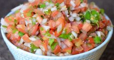 Homemade pico de gallo recipe. Enjoy with chips, on tacos, or in your favorite burrito for breakfast, lunch or dinner! All fresh ingredients.