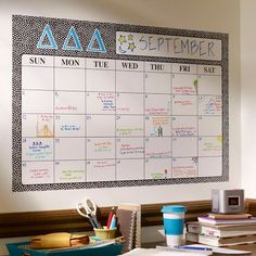 This is PERFECT for keeping you organized and your walls looking cute.