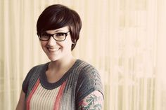 A real person with hair I like pixie with glasses, hair style, pixie haircut with glasses, short hair glasses, roma flickr, kyla roma