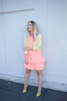 Parred-down ice cream hues come together to form our favorite outfit of this week, as worn by our blogger bestie Beth Jones. Click for more! http://crossroadstrading.com/look-of-the-week-perfect-pastels-on-beth-jones/