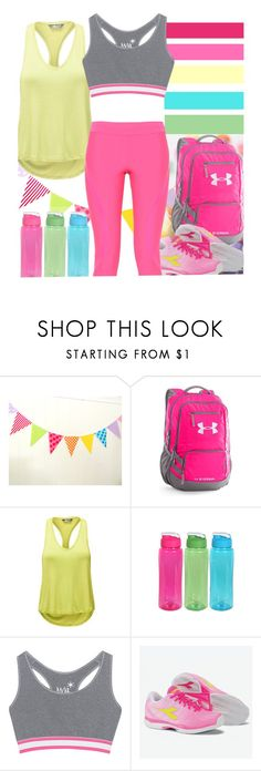 """""""Run Through Candyland"""" by my-style-xo ❤ liked on Polyvore featuring Under Armour, The North Face, Juvia and adidas"""