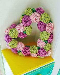 Crochet Rose Wreath