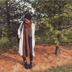 long maroon scarf hijab chic- Fall hijab outfits in warm colors http://www.justtrendygirls.com/fall-hijab-outfits-in-warm-colors/