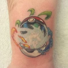 #pokemonday #4 Pokeball tattoo by @kaylaraetattoo