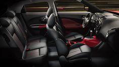 2015 Nissan Juke, Interior, Car, Black and Red Leather, Red Trim Nissan Juke Interior, Crossover Suv, Nissan Infiniti, Peugeot 2008, Bmw 328i, Geneva Motor Show, Unique Cars, Luxury Cars, Dream Cars