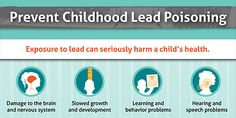 The Childhood Lead Poisoning Prevention Program is committed to the Healthy People goal of eliminating elevated blood lead levels in children by Ap Environmental Science, Lead Poisoning, Safety Classes, How To Protect Yourself, Kids Health, Your Family, Nervous System, Health And Nutrition, Vulnerability