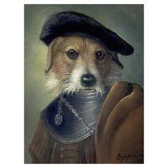 """Gonzo"" by Melinda Copper - Anthropomorphic portrait of a dog"