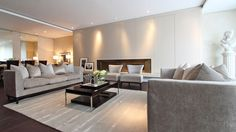 Mont Rose Place living area with Calvin Klein rug