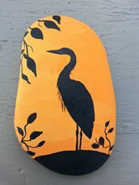 Pin by teresa mayer on rocks pinterest rock rock painting and stone painting of egret solutioingenieria Gallery