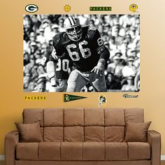 Ray Nitschke In Your Face Mural, Green Bay Packers