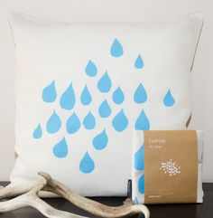 Designed and made in Melbourne - Hand screen printed with environmentally friendly water based inks - Each design has a heartfelt comment on the rear of the cushion cover - 100% Premium linen - Measures 50 x 50cm