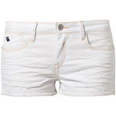 Le Temps Des Cerises VAN Denim shorts ($85) ❤ liked on Polyvore featuring shorts, bottoms, pants, short, blue, short jean shorts, blue jean shorts, zipper pocket shorts, denim shorts and jean shorts