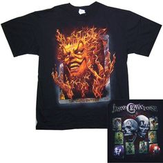 "INSANE CLOWN POSSE ""JEKYLL BROS FLAMING CARD"" BLACK T-SHIRT NEW OFFICIAL 2XL"