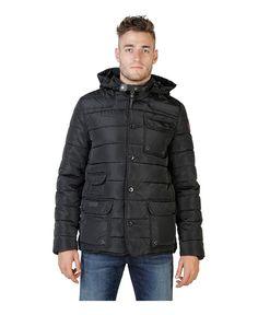 Geographical norway - giubbotto uomo con cappuccio rimovibile - esterno 100% poliammide, rivestimento e imbottitura 100% - Giacca uomo  Nero