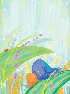 spring rain, limited edition print signed!  digital art