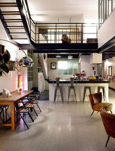 Apartment, loft, open concept, espace ouvert, kitchen, cuisine