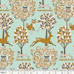 Natural Delight Enchanted Forest Cotton Blue